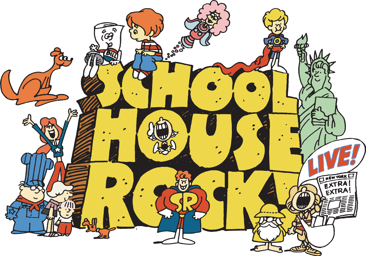 School house rock clipart banner library library Schoolhouse Rock Live! - banner library library