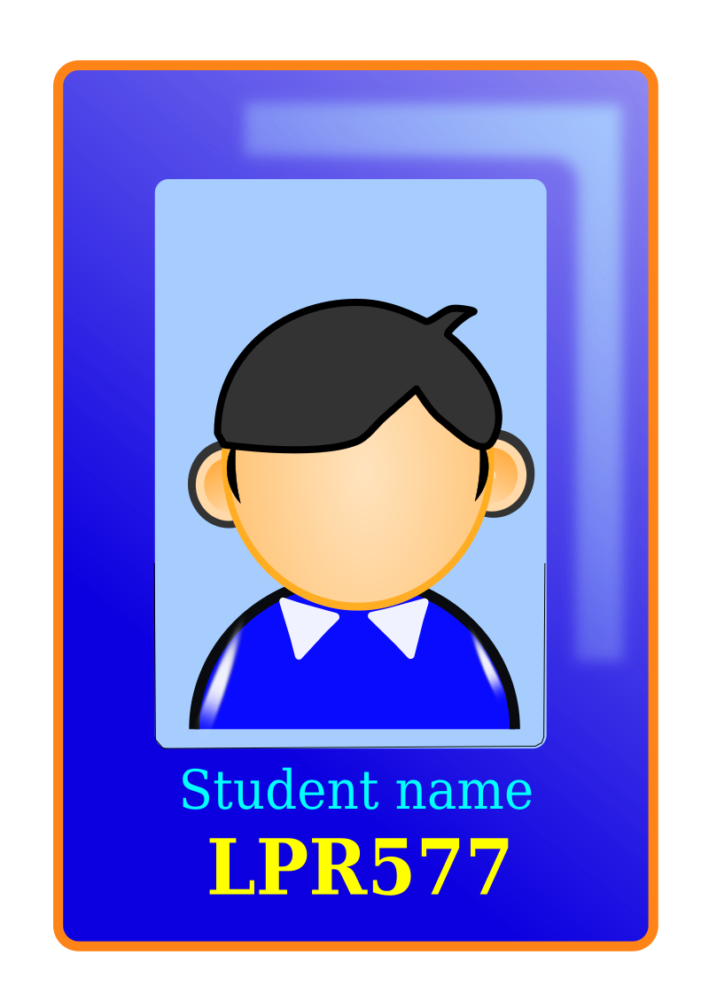 School id clipart clip transparent stock Clipart - User Identity clip transparent stock