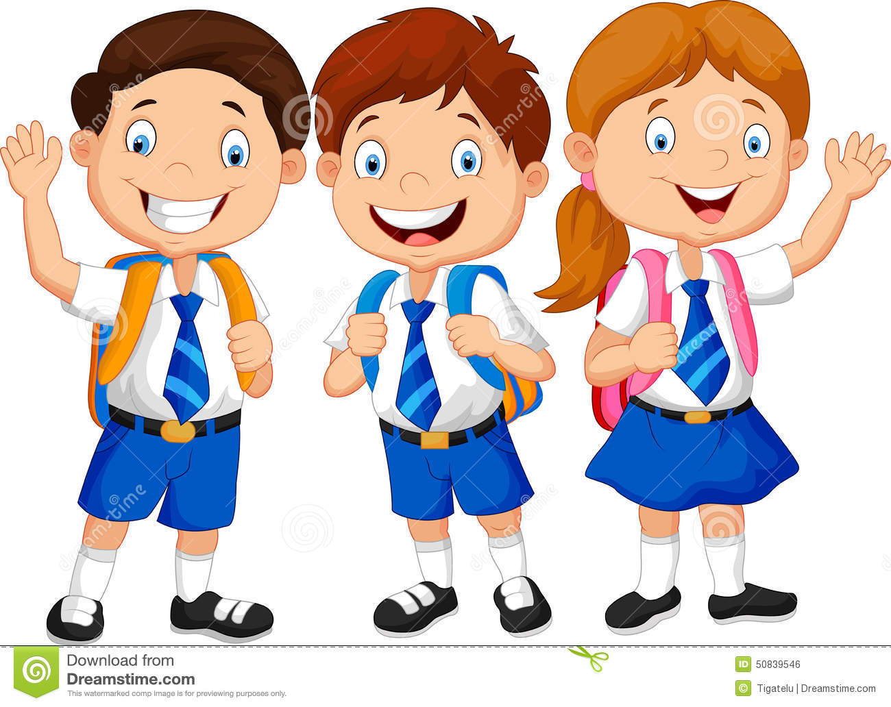 School kids character clipart vector black and white download School kids character clipart - ClipartFest vector black and white download