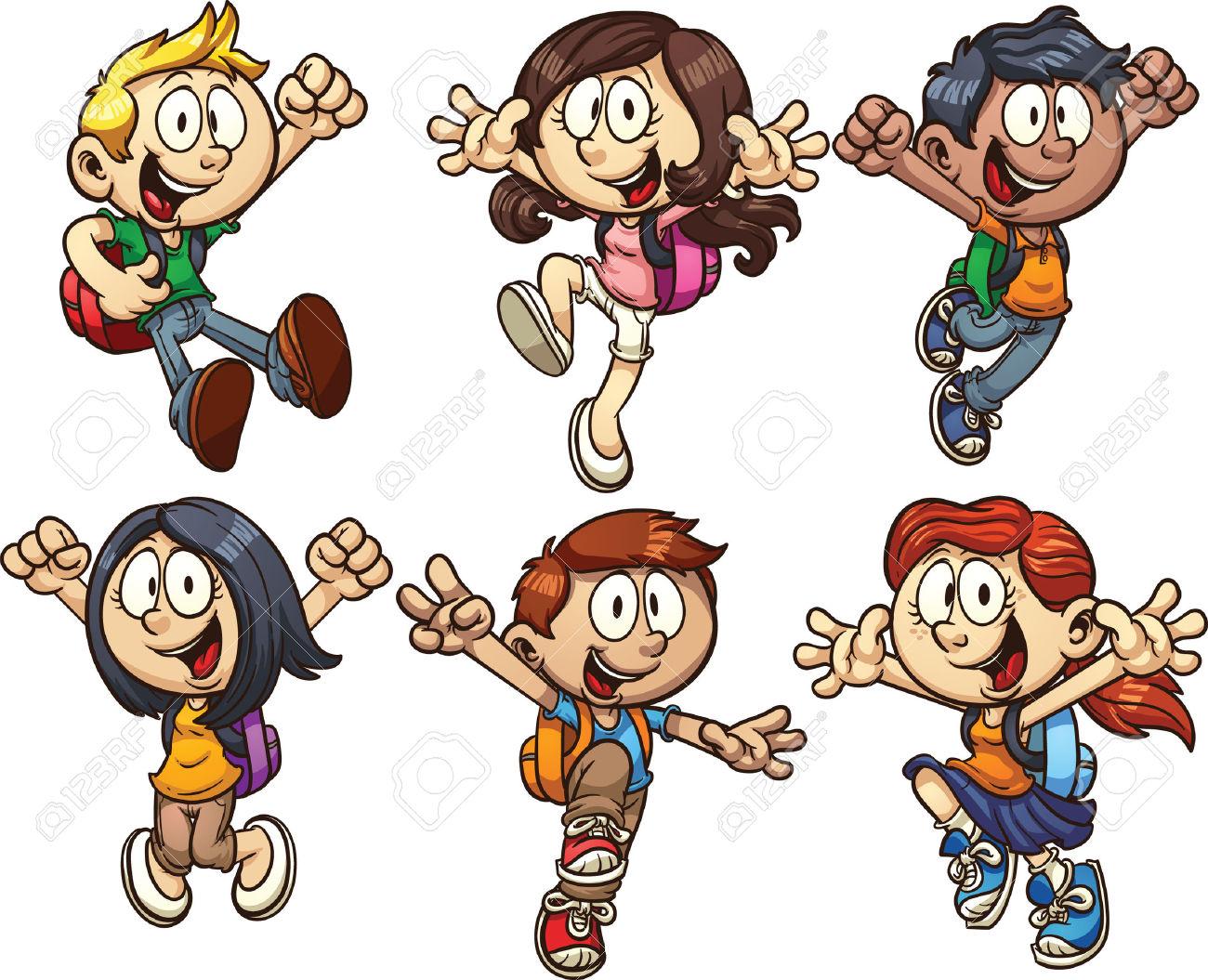 School kids character clipart vector stock School kids character clipart - ClipartFest vector stock