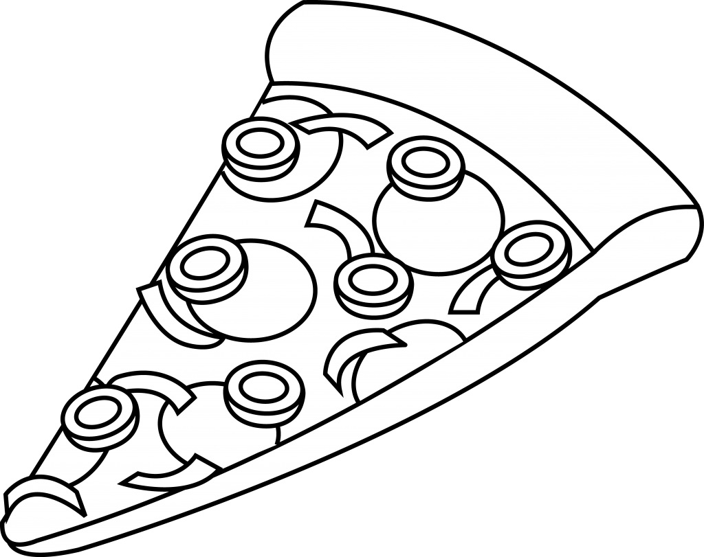 School lunch clipart black and white png library Pizza black and white pizza clipart black and white 6 - WikiClipArt png library