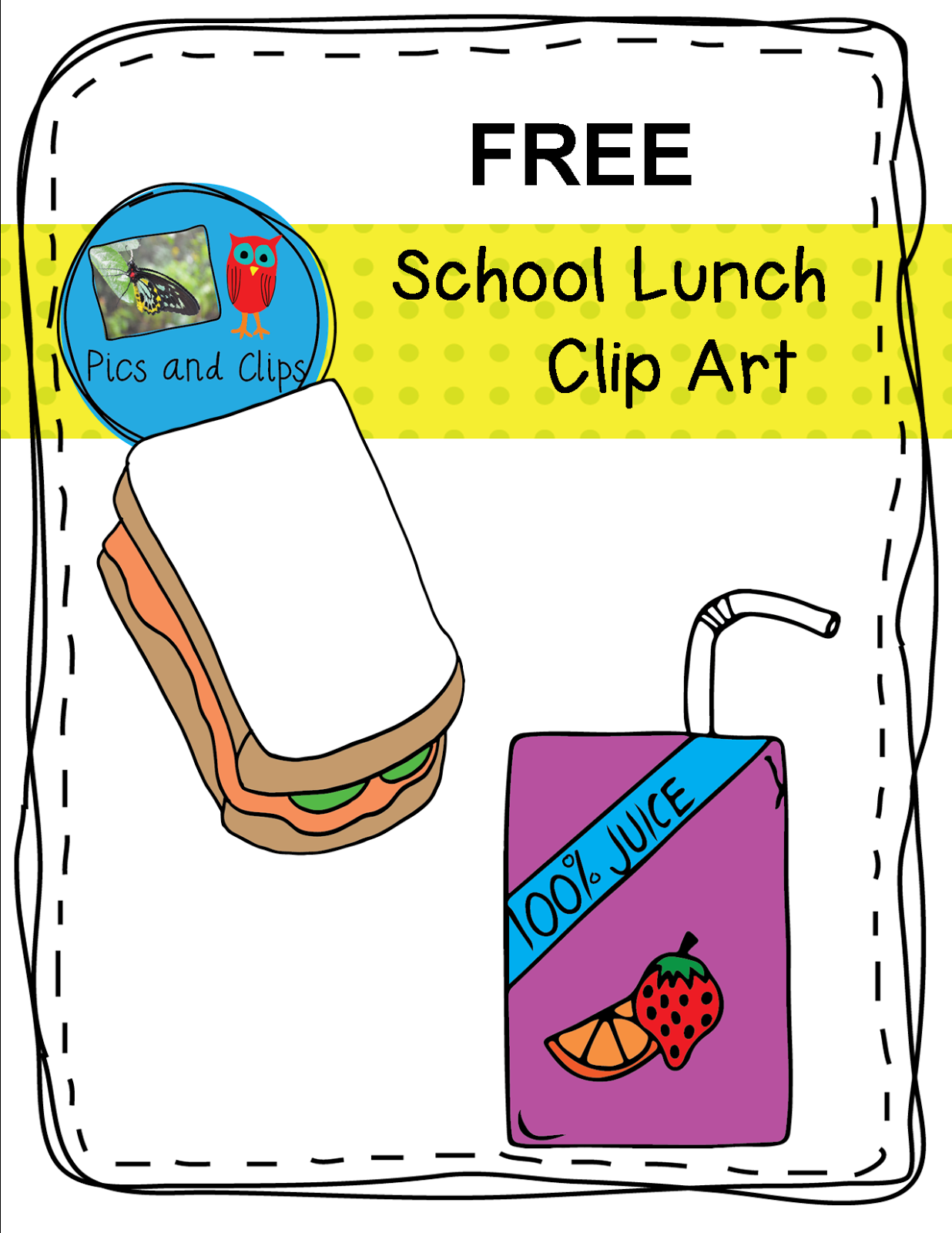 School lunch reading clipart image transparent library Free school lunch clip art for your task cards, worksheets ... image transparent library