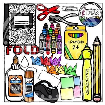 School notebook cliparts svg library download Interactive Notebook School Supplies Clipart svg library download