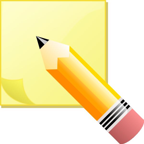 School notes clipart vector freeuse download Write Clip Art at Clker.com - vector clip art online, royalty free ... vector freeuse download