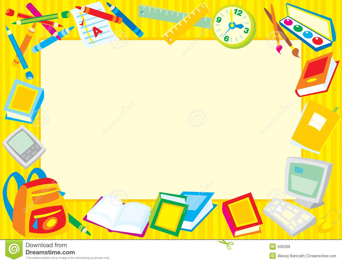 School objects clipart frame clipart black and white school borders clipart - Free Large Images | Stuff to Buy ... clipart black and white