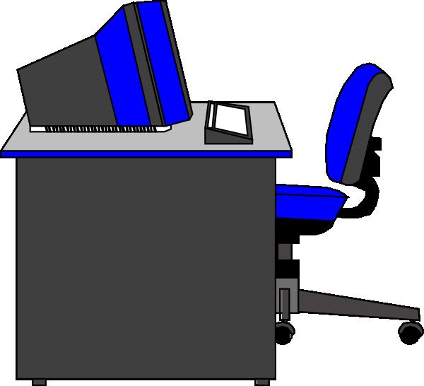 School office clipart svg royalty free download Office Desk Clip Art at Clker.com - vector clip art online, royalty ... svg royalty free download
