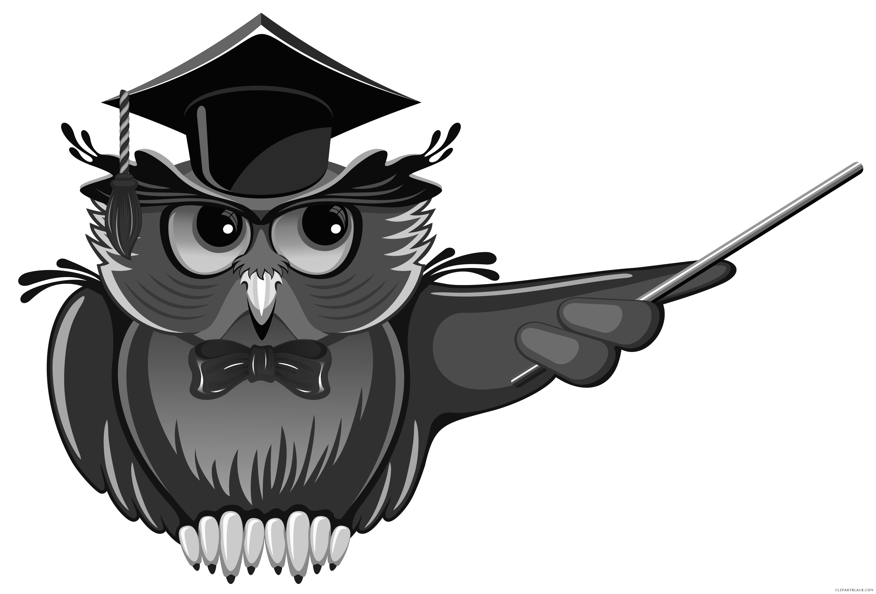 School owl clipart black and white image School Owl Clipart - ClipartBlack.com image