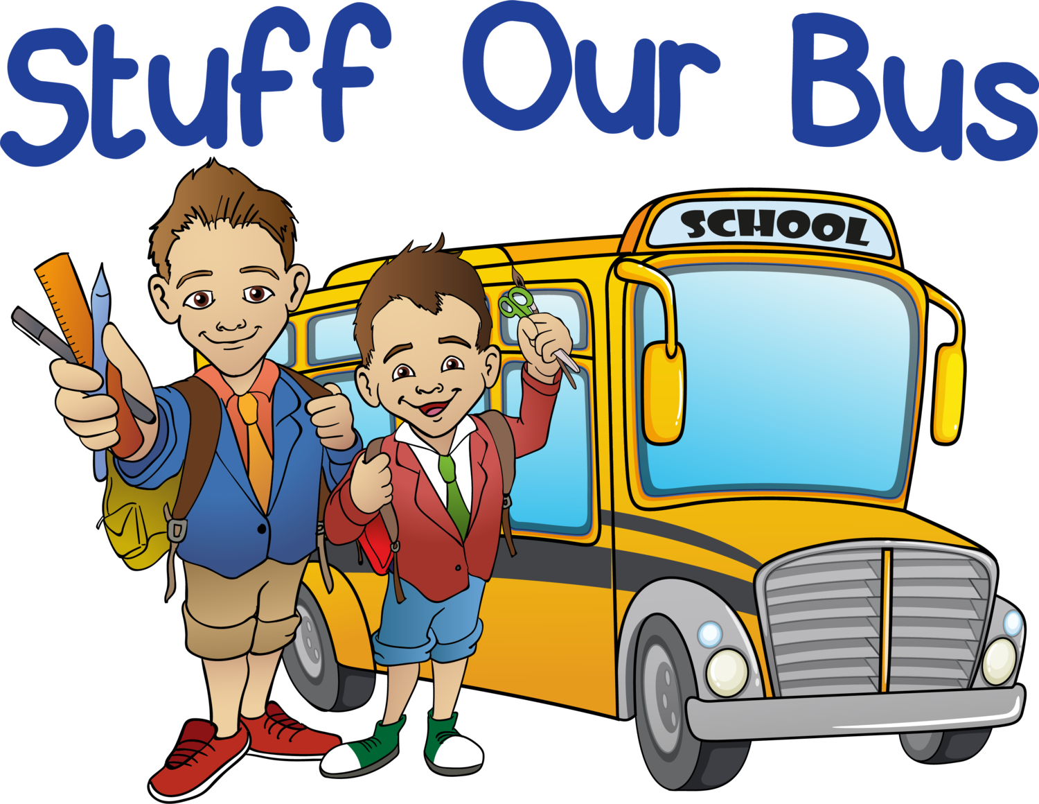 School parking lot clipart banner download The Event — Stuff Our Bus banner download