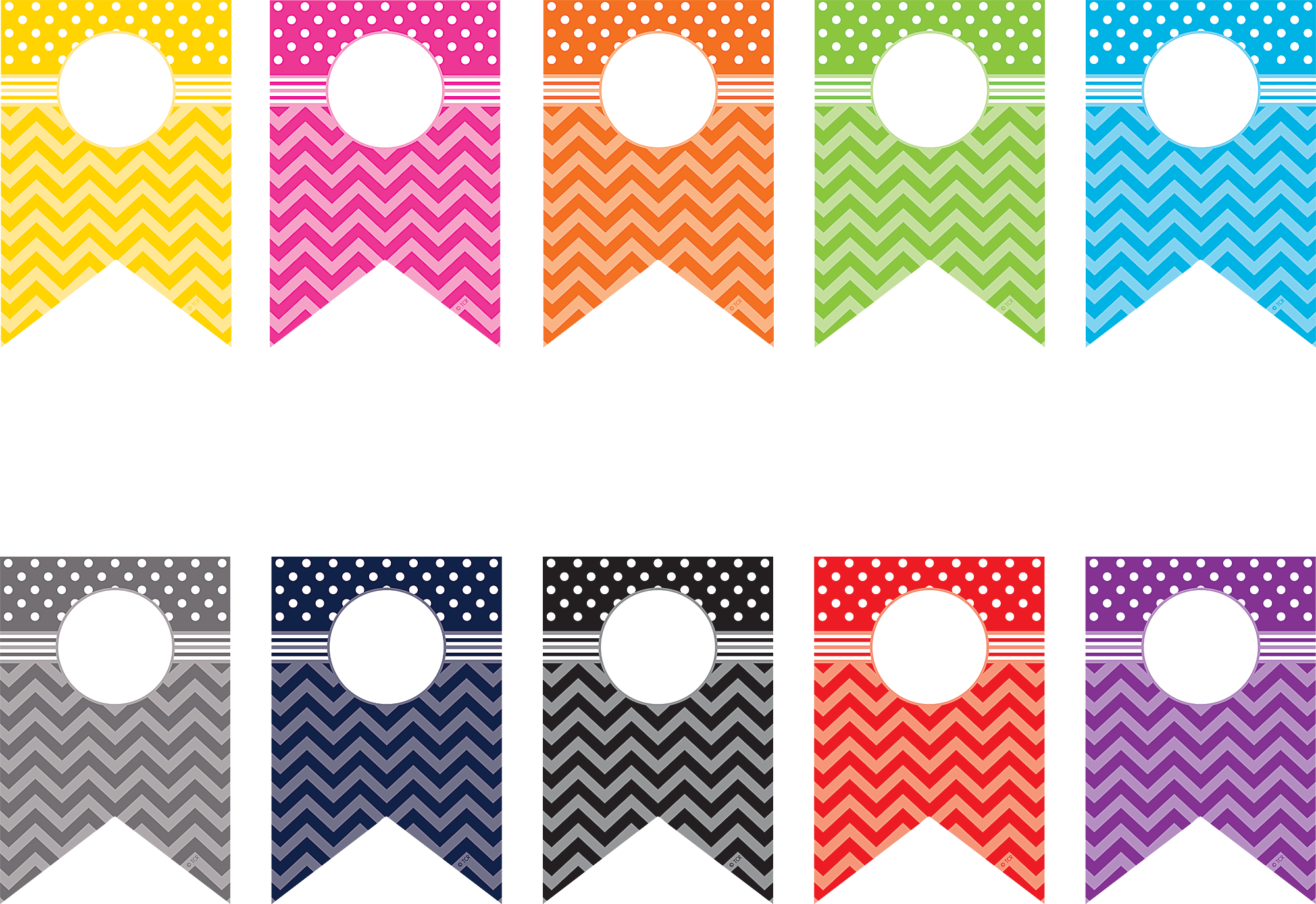 School pennant clipart jpg freeuse library Chevrons and Dots Pennants Accents | Bulletin board, Classroom decor ... jpg freeuse library