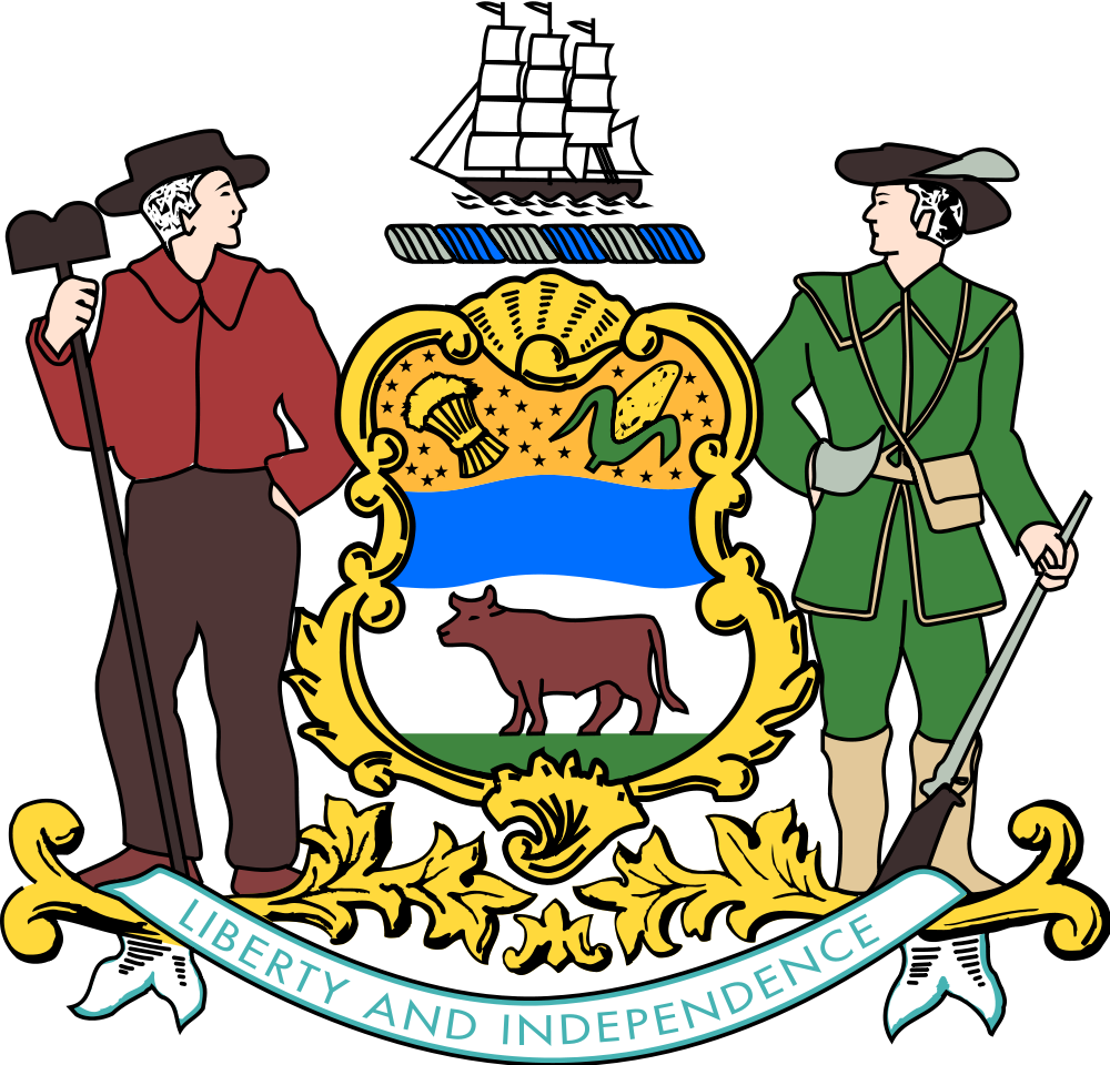 School recess clipart clip free File:Coat of arms of Delaware.svg - Wikimedia Commons clip free