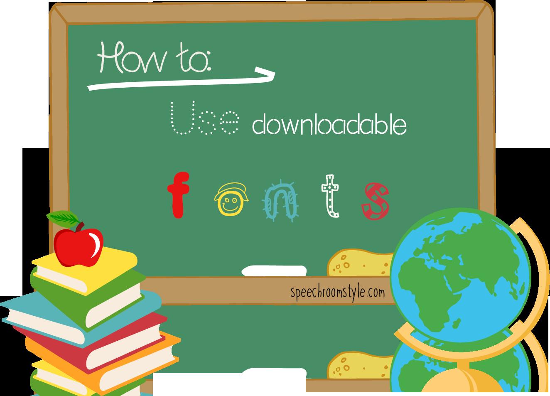School room clipart svg transparent download Classroom Decor: Using downloadable fonts - Speech Room Style svg transparent download