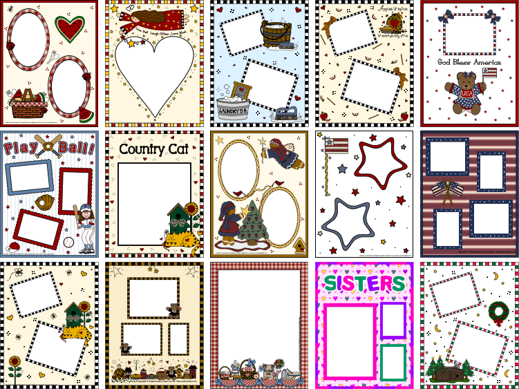 Transparent png clipart book pages clipart royalty free stock Scrapbooking Clipart Photo Frame Pages Add Your Photos and Print clipart royalty free stock