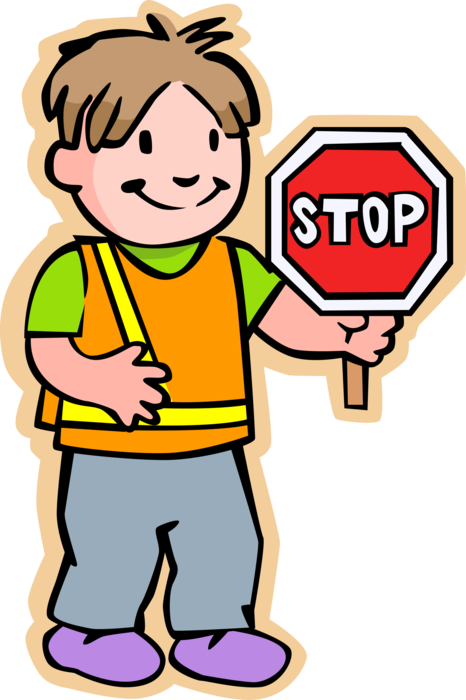 School security guard clipart picture library School Crossing Guard with Stop Sign - Vector Image picture library