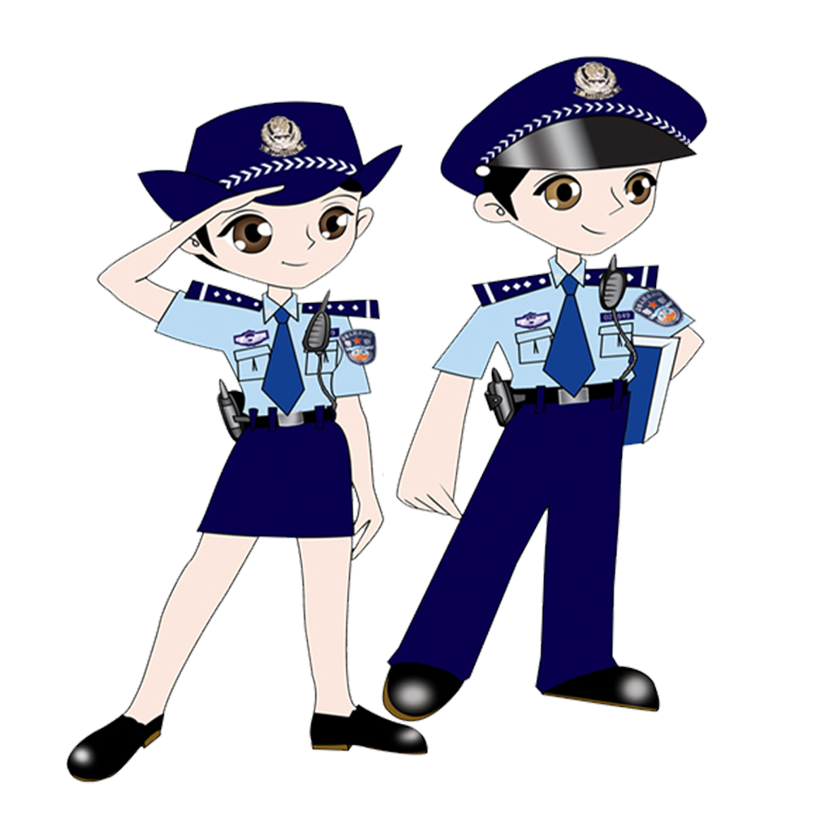 School security guard clipart vector free Cartoon Police officer Animation - Police png elements 1181*1181 ... vector free