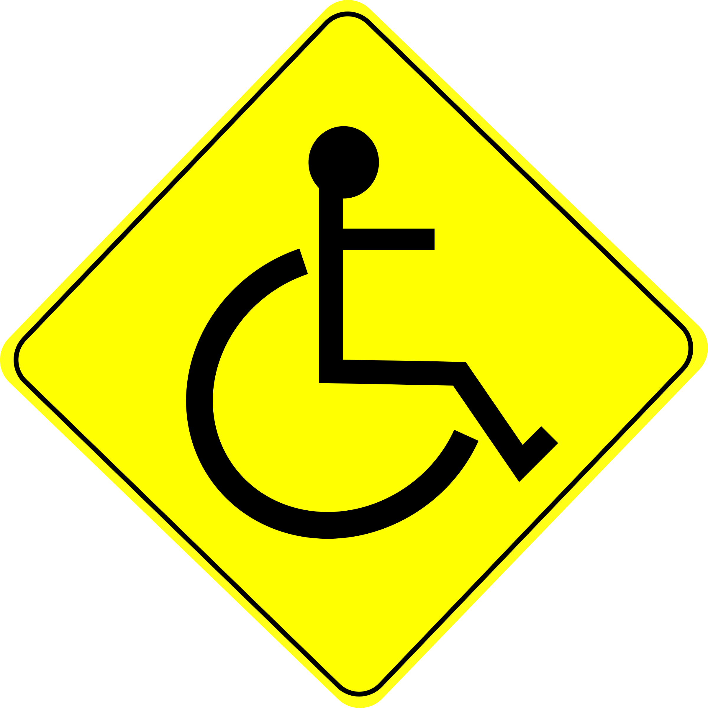 School sign clipart banner freeuse Clipart - Wheelchair Caution Sign Black - Free Clipart Icon Download banner freeuse