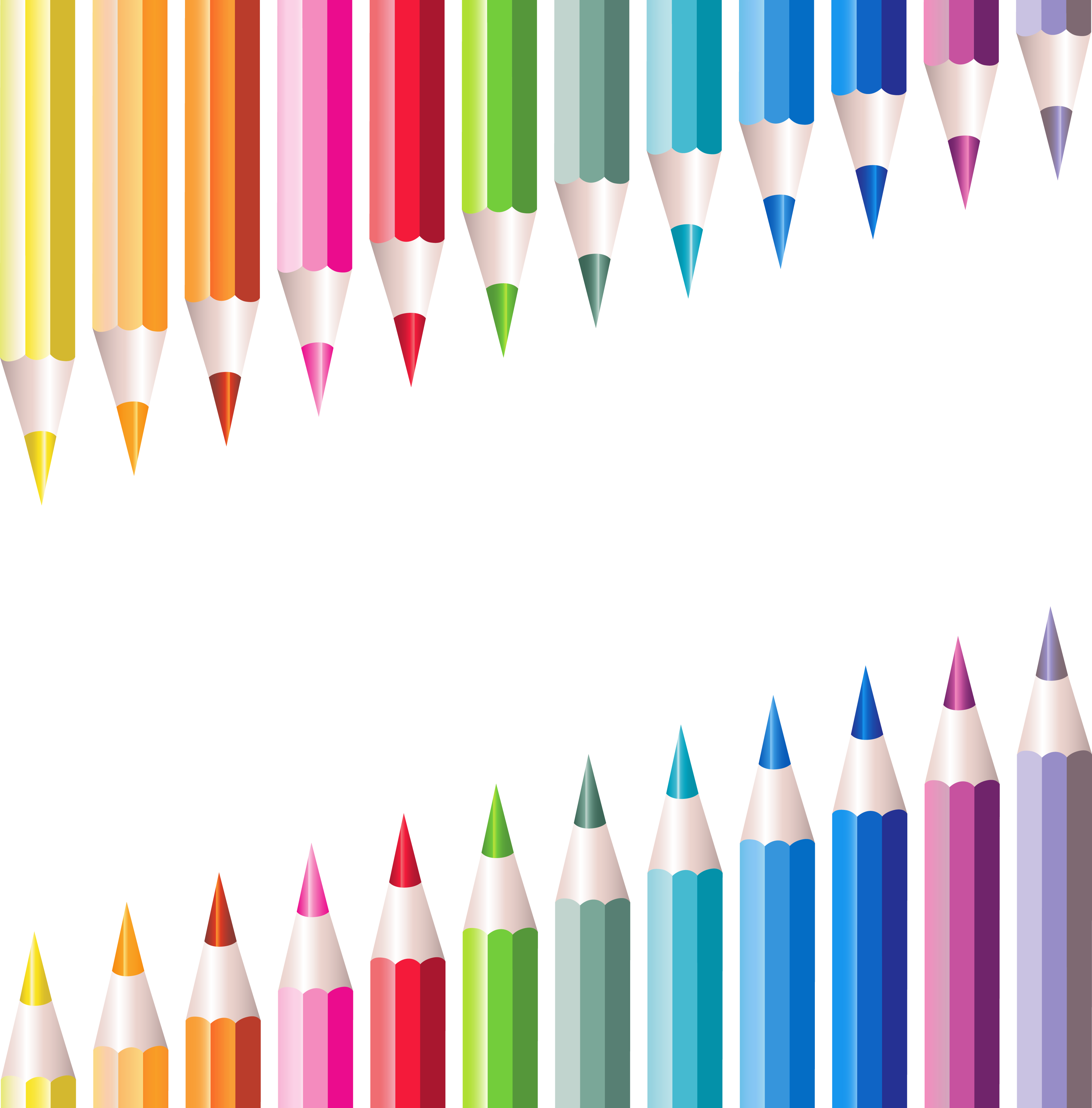 School stationery clipart image black and white download Transparent School Pencils Decoration | Gallery Yopriceville - High ... image black and white download
