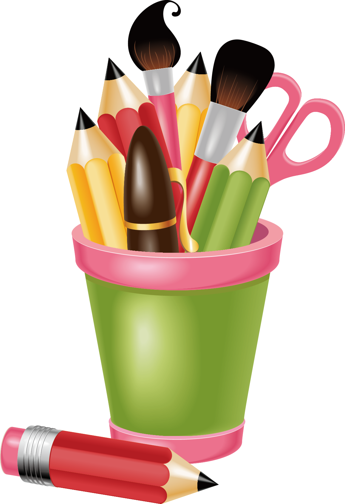 School stationery clipart picture free library School Clip art - Painting tools 1157*1689 transprent Png Free ... picture free library