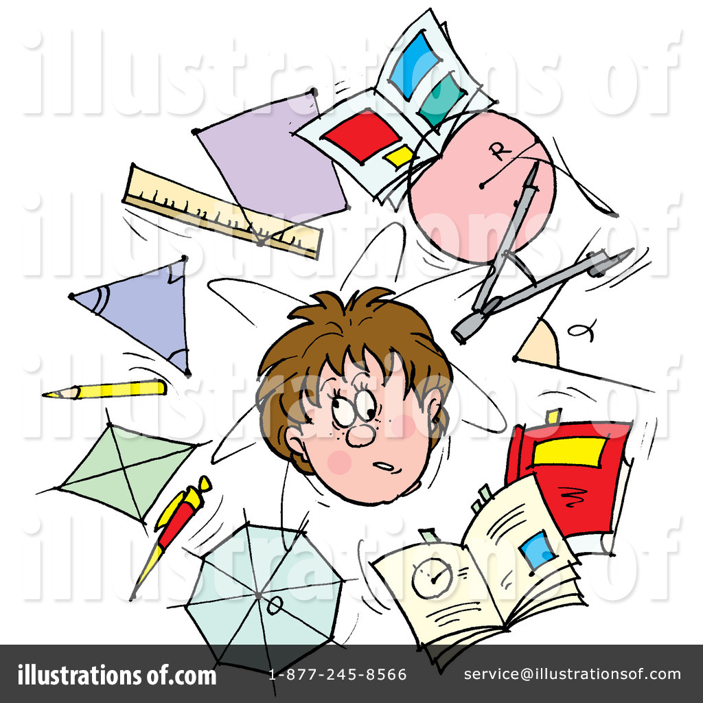 School stress clipart free black and white School Clipart #33051 - Illustration by Alex Bannykh black and white