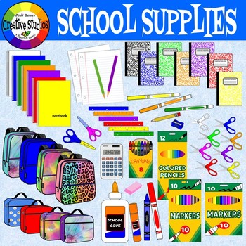 School supplies 3d clipart clip transparent stock School Supplies Clipart (Creative Studios Clipart) clip transparent stock