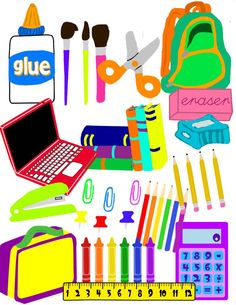 School supplies 3d clipart clipart download Fun school supplies clip art | Clipart Panda - Free Clipart ... clipart download