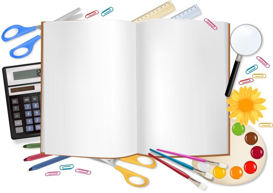 School supplies background clipart png School backgrounds set 18 vector   vector art   School frame ... png