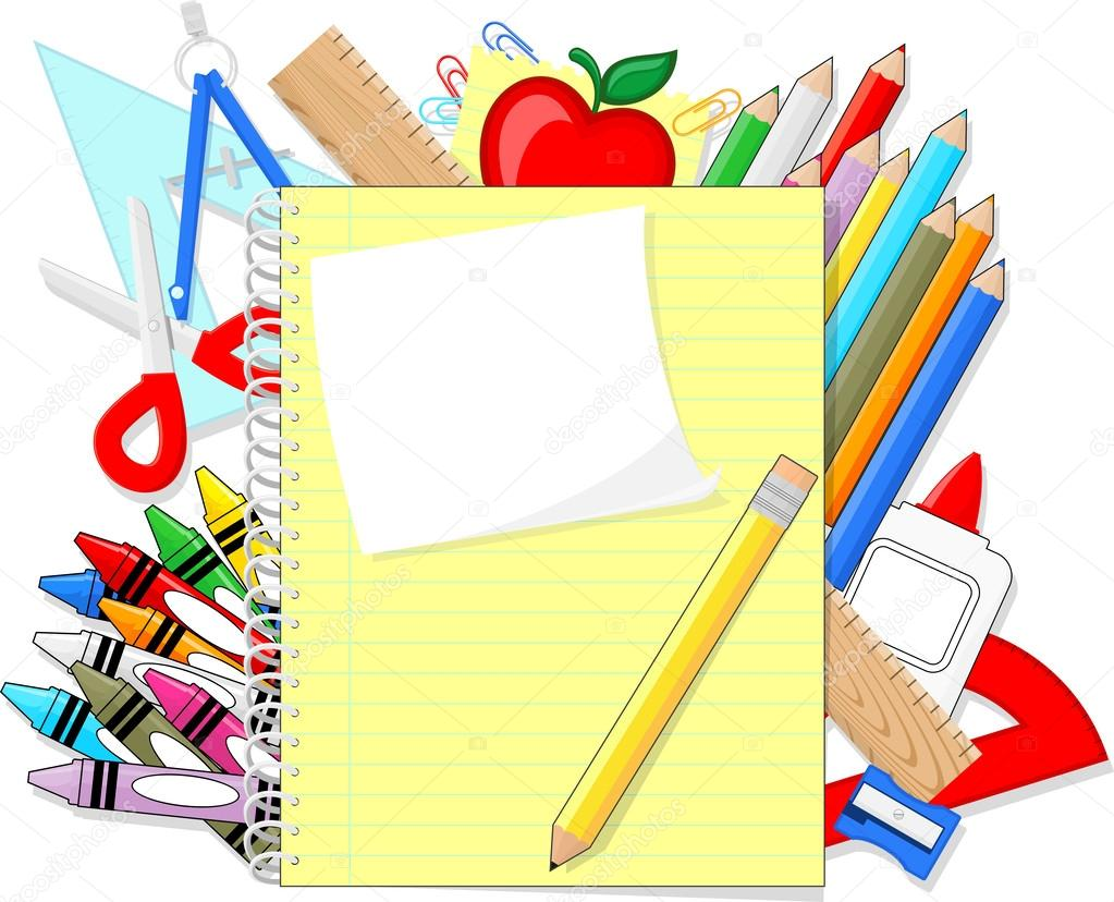 School supplies background clipart freeuse School supplies background clipart 7 » Clipart Station freeuse