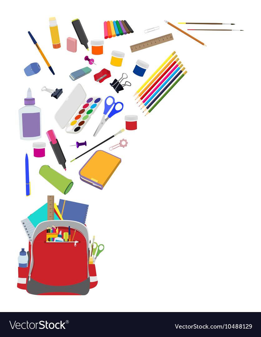 School supplies background clipart jpg free download Background with school supplies flat jpg free download