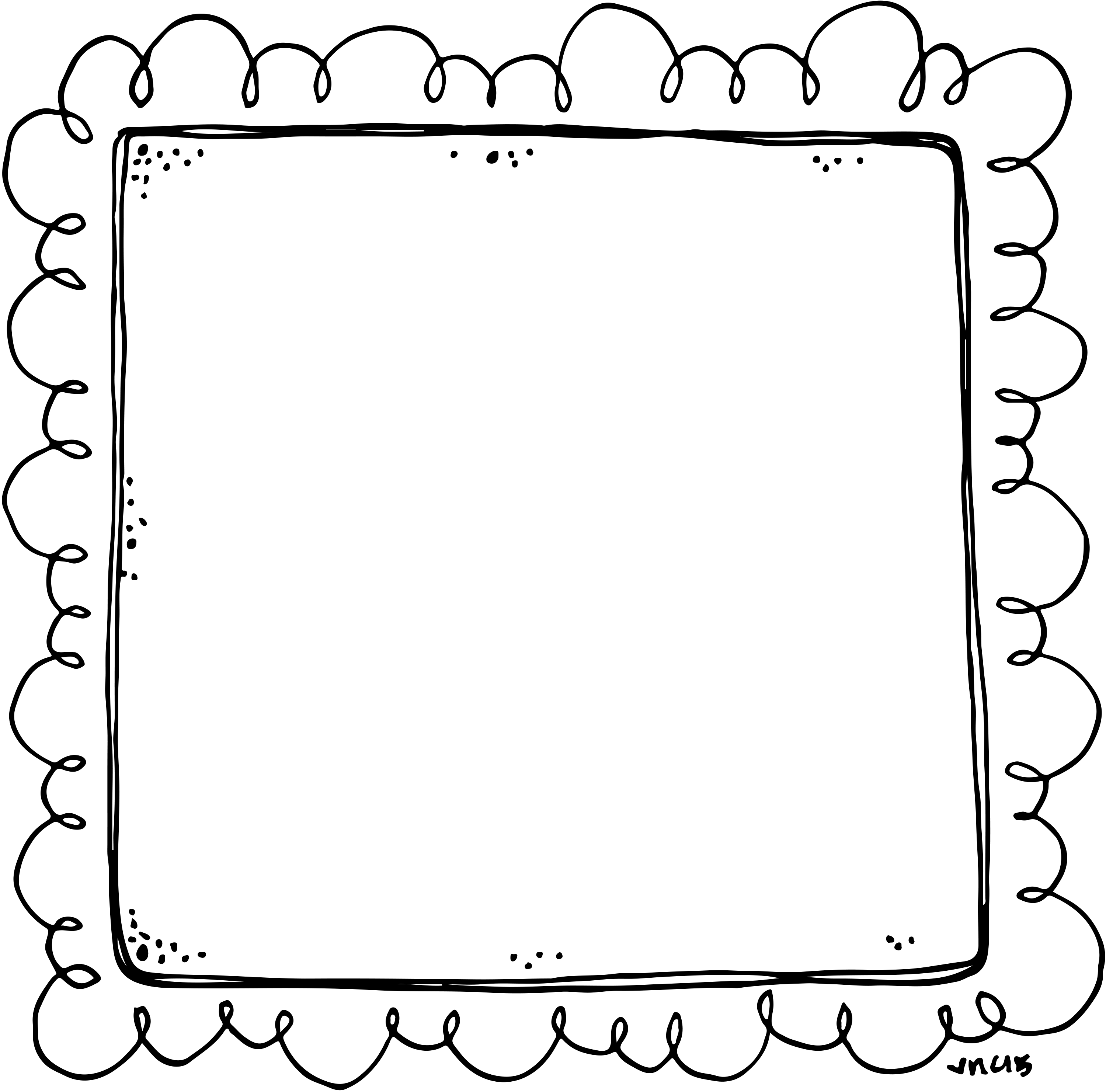 School supplies clipart black and white borders jpg stock Border or Frame for newsletters, announcements.... | BLACK AND WHITE ... jpg stock