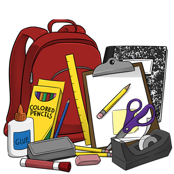School supplies clipart black and white edge graphic library download School Supply Lists - Kendrick Middle School graphic library download