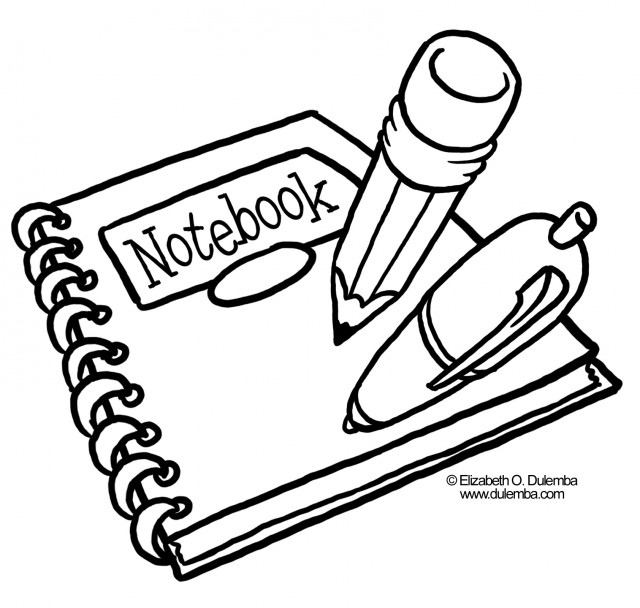 School supplies clipart black and white line graphic royalty free download School supplies clipart black and white 2 » Clipart Station graphic royalty free download