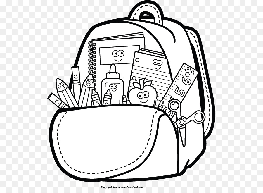 School supplies clipart black and white line clipart freeuse download Black And White Png Of Art Supplies & Free Black And White ... clipart freeuse download