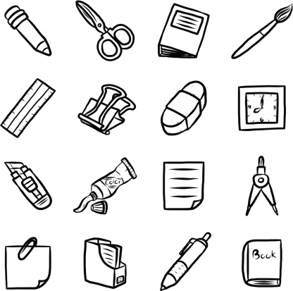 School supplies clipart black and white line banner library download Free School Supplies Clipart Black And White, Download Free ... banner library download