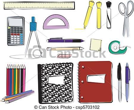 School supplies clipart graphics black and white stock School supplies Illustrations and Clipart. 27,384 School supplies ... black and white stock