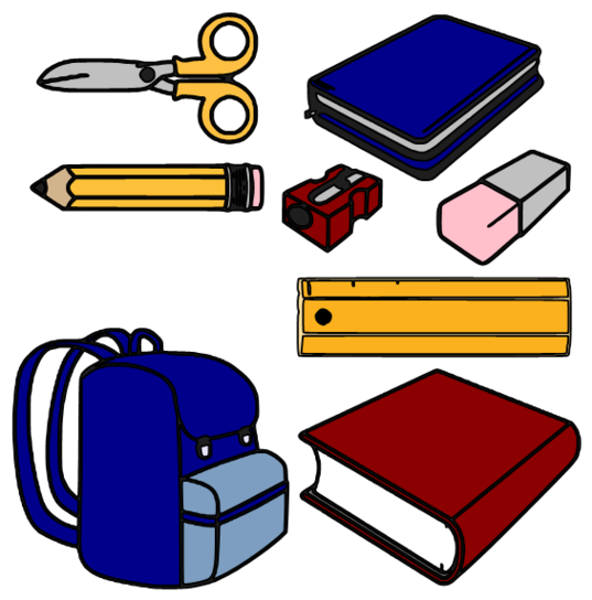 School supplies clipart graphics vector royalty free download School supplies images clip art - ClipartFest vector royalty free download