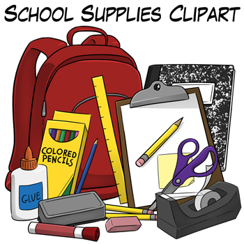 School supplies clipart graphics svg transparent stock School supplies clipart graphics - ClipartFest svg transparent stock