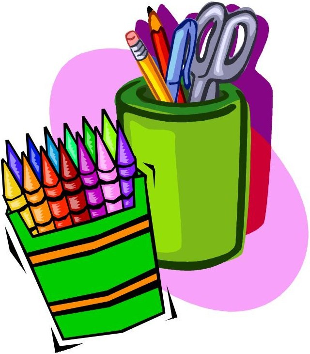 School supplies clipart image picture transparent download Cartoon school supplies clipart - ClipartFest picture transparent download