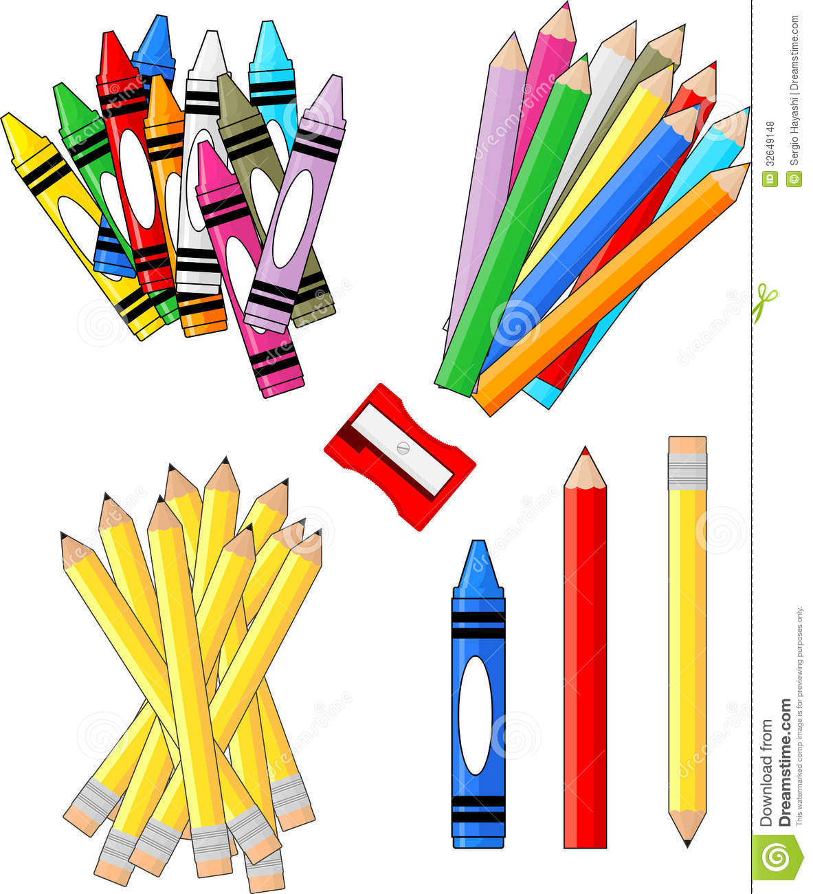 School supplies clipart image free stock Art Materials Clipart - Clipart Kid free stock