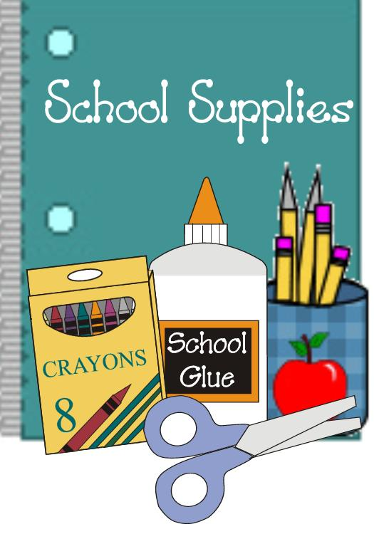 School supplies clipart image clip black and white library School Supplies Clipart - Clipart Kid clip black and white library