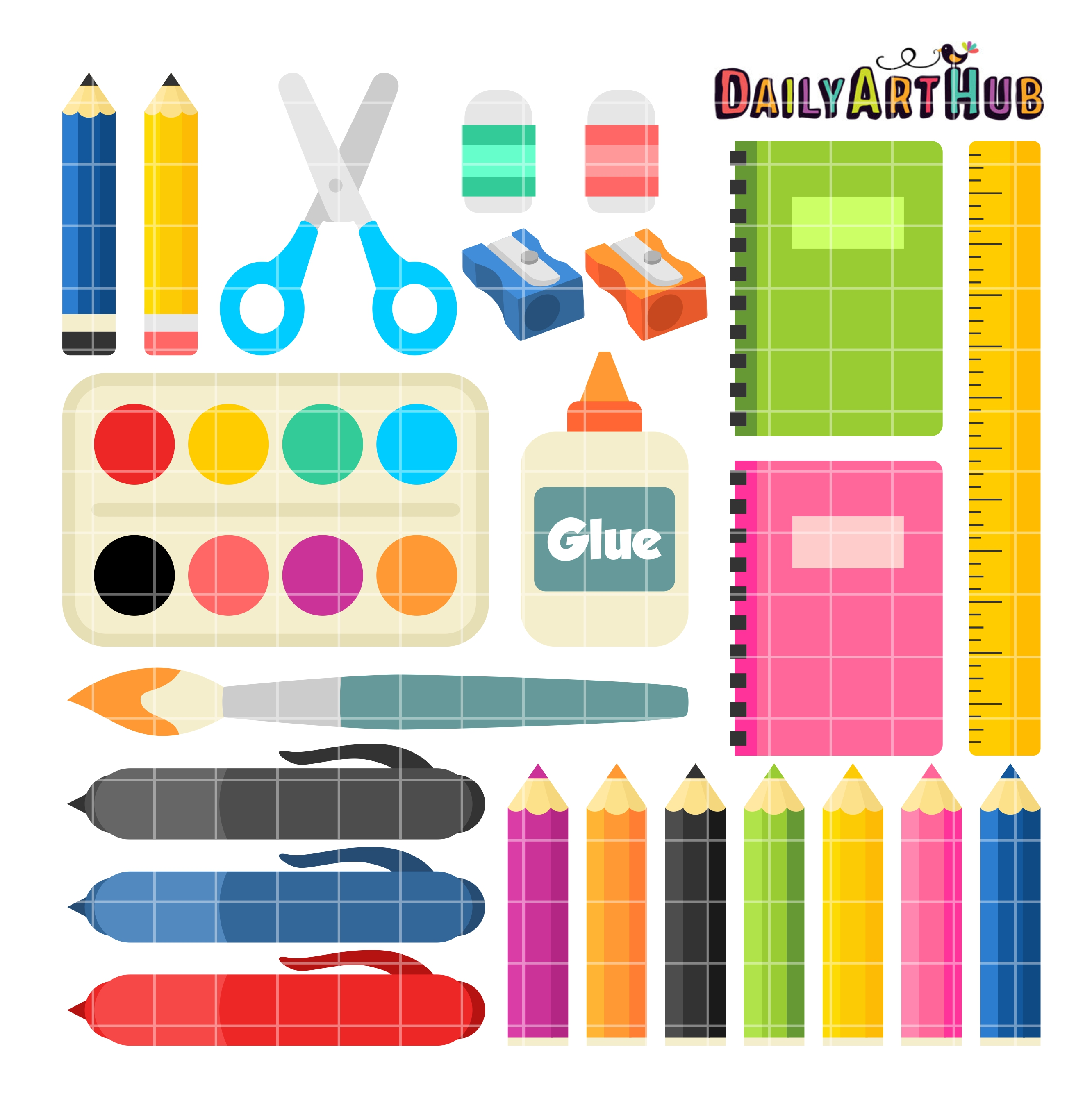 School supplies clipart image picture black and white library School supplies scale clipart - ClipartFest picture black and white library