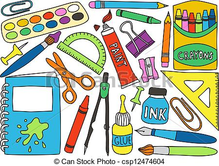 School supplies clipart image svg library download Office school supplies clipart - ClipartFest svg library download