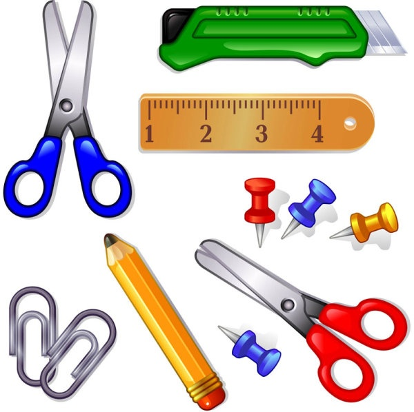 School supplies clipart image graphic free stock Cartoon school supplies clipart - ClipartFest graphic free stock