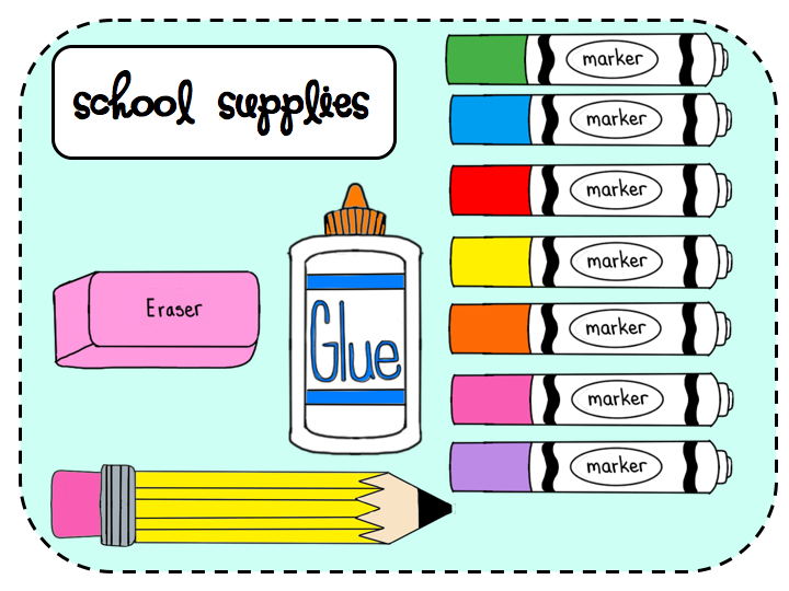 School supplies clipart image clip free download School Supplies Border Clipart | Clipart Panda - Free Clipart Images clip free download