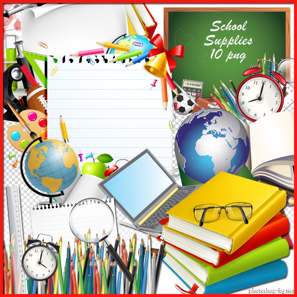 School supplies clipart image clipart transparent stock School Supplies Border Clipart | Clipart Panda - Free Clipart Images clipart transparent stock