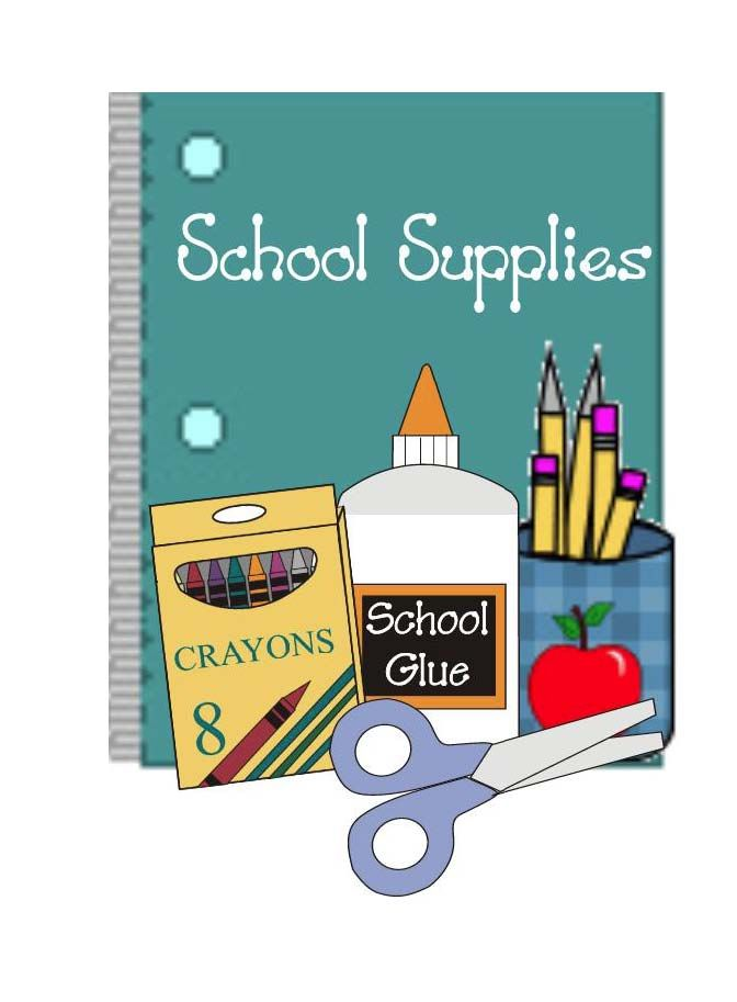School supplies drive clipart png black and white School Supplies Poster & Checklist | Classroom Freebies ... png black and white