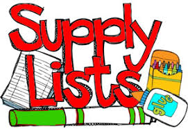School supplies list clipart picture library library Classroom Supply Lists | Georgetown Elementary School picture library library