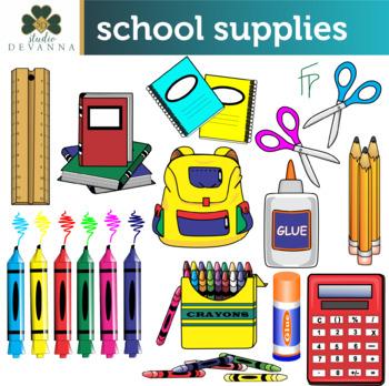 School supplu clipart png royalty free download Free School Supplies Clip Art png royalty free download