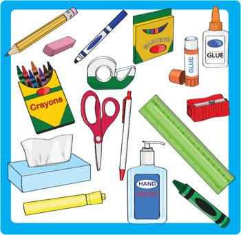 School supplu clipart clip art download School Supplies Clipart Bundle clip art download