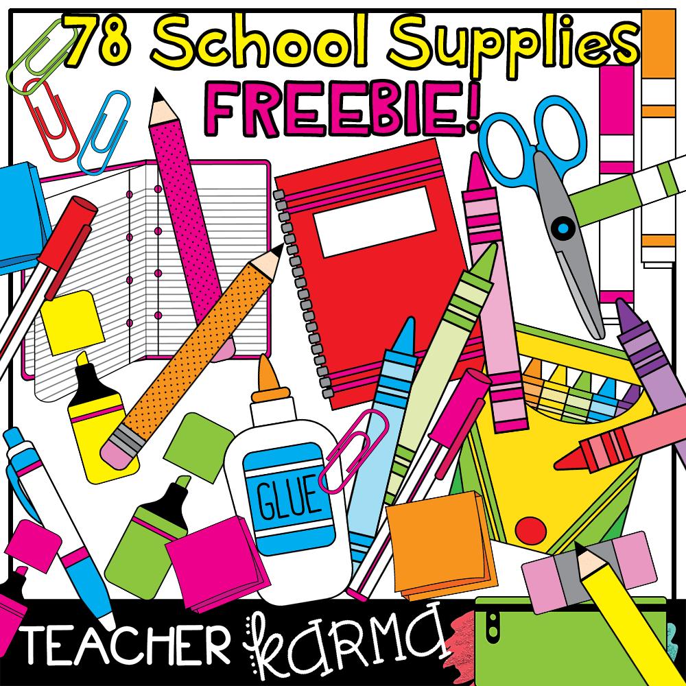 School supplu clipart png stock FREE Clipart for Teachers! 78 Pieces!! — Teacher KARMA png stock