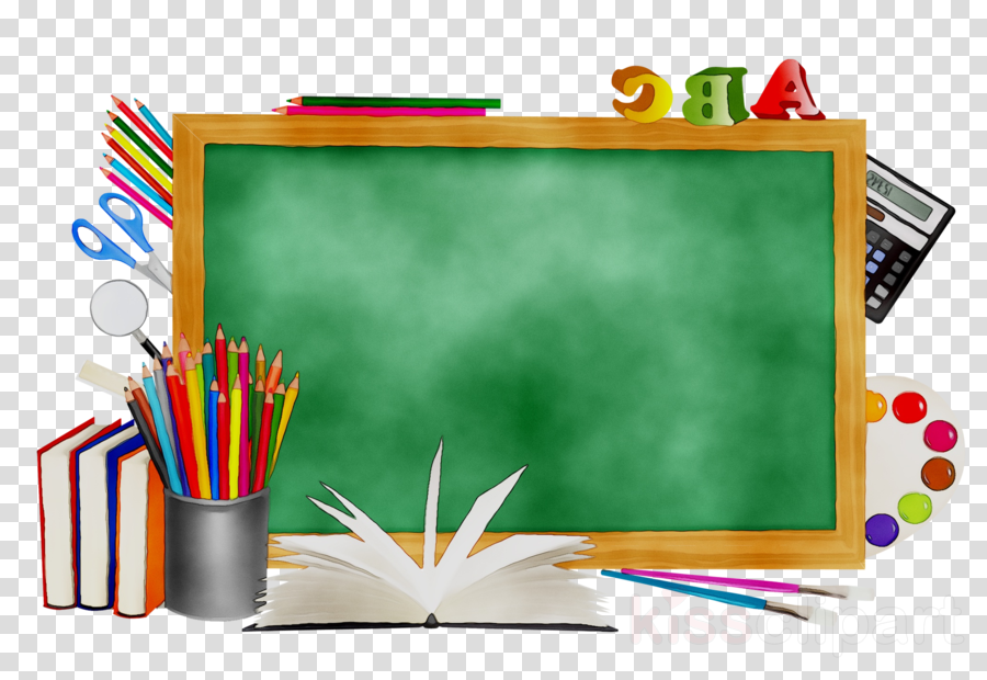 School supply chalkboard clipart graphic download School Supplies Cartoon clipart - School, Education ... graphic download