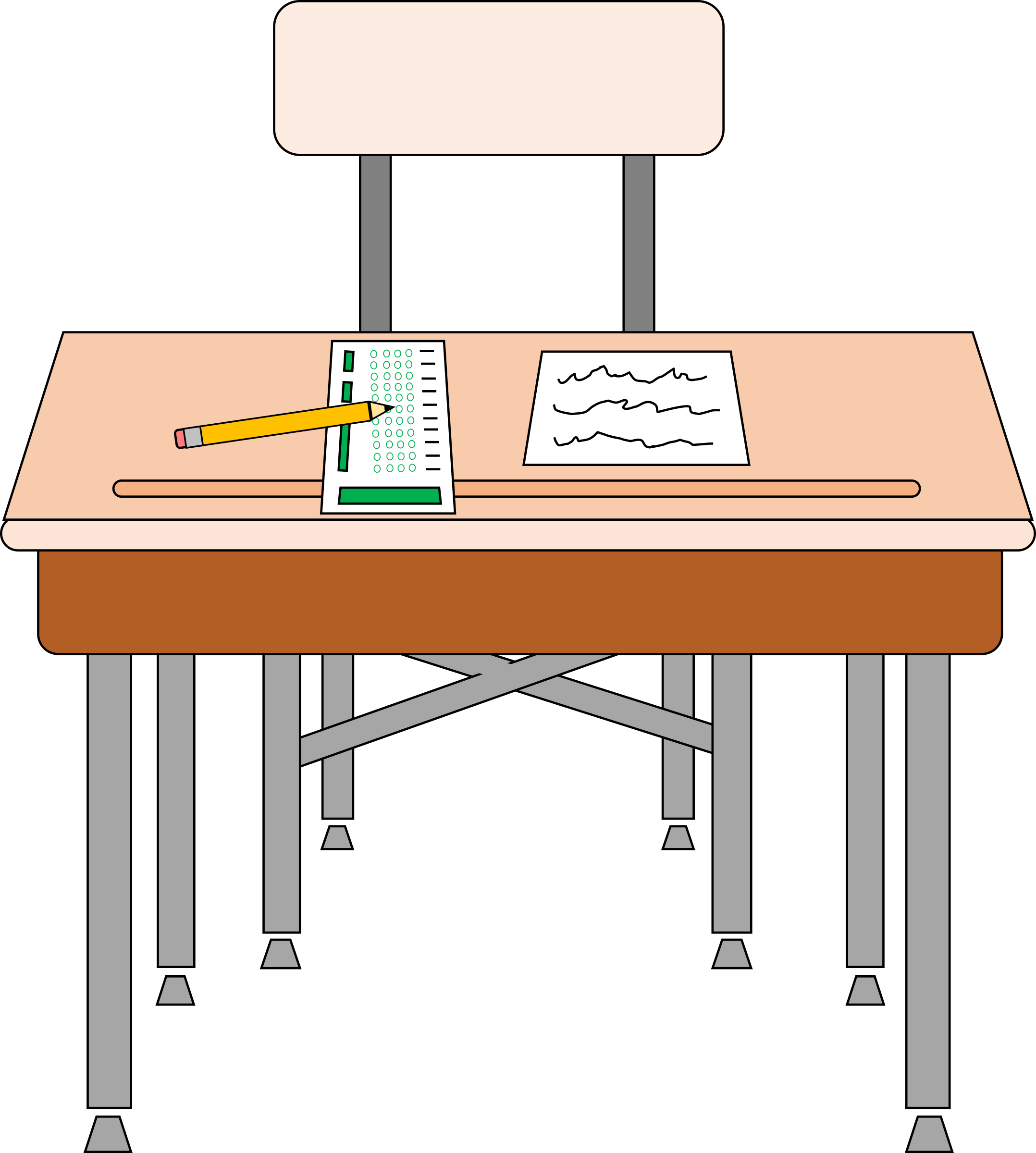 School testing clipart image freeuse Clipart - Empty seat for standardized test image freeuse